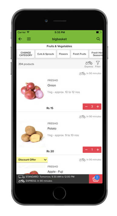 BigBasket - Best Online Grocery Application for iOS & Android