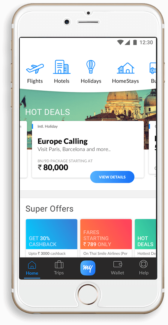 MakeMytrip-App-development