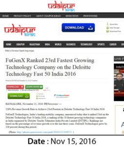 FuGenX-Wins-23rd-fastest-growing-technology-award-udaipur-kiran