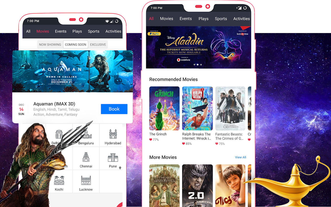 Features and Functionalities that Impact the Cost of BookMyShow like App
