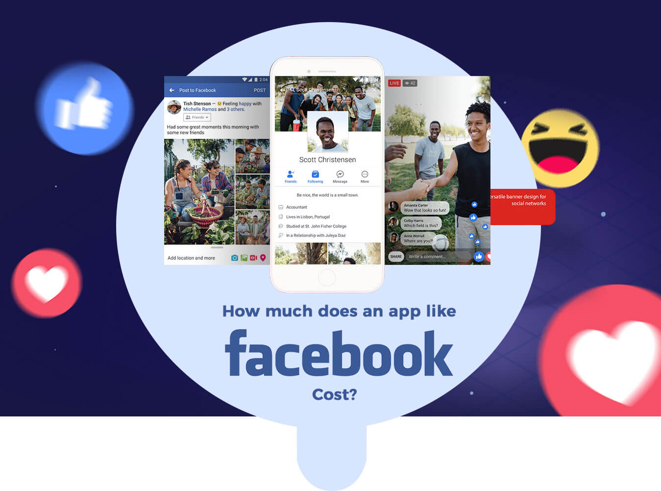 How Much Does it Cost to Develop an App like facebook