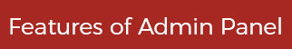 Features of admin panel Quora