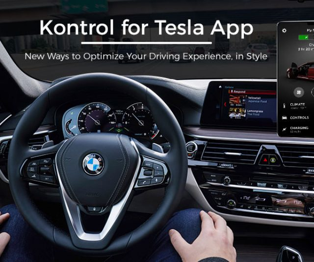 Enhancing Driving Experience in Style with the help of New Ways- Kontrol for Tesla App