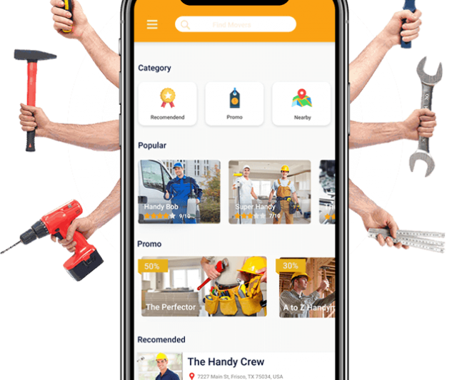 Features to Make a Successful clone of Handy man App
