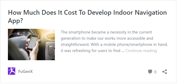 Cost to develop indoor navigation app