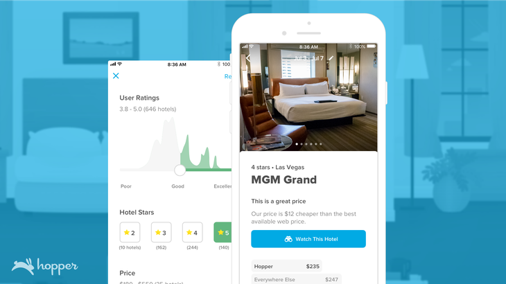 How much it cost to develop a travel app like Hopper