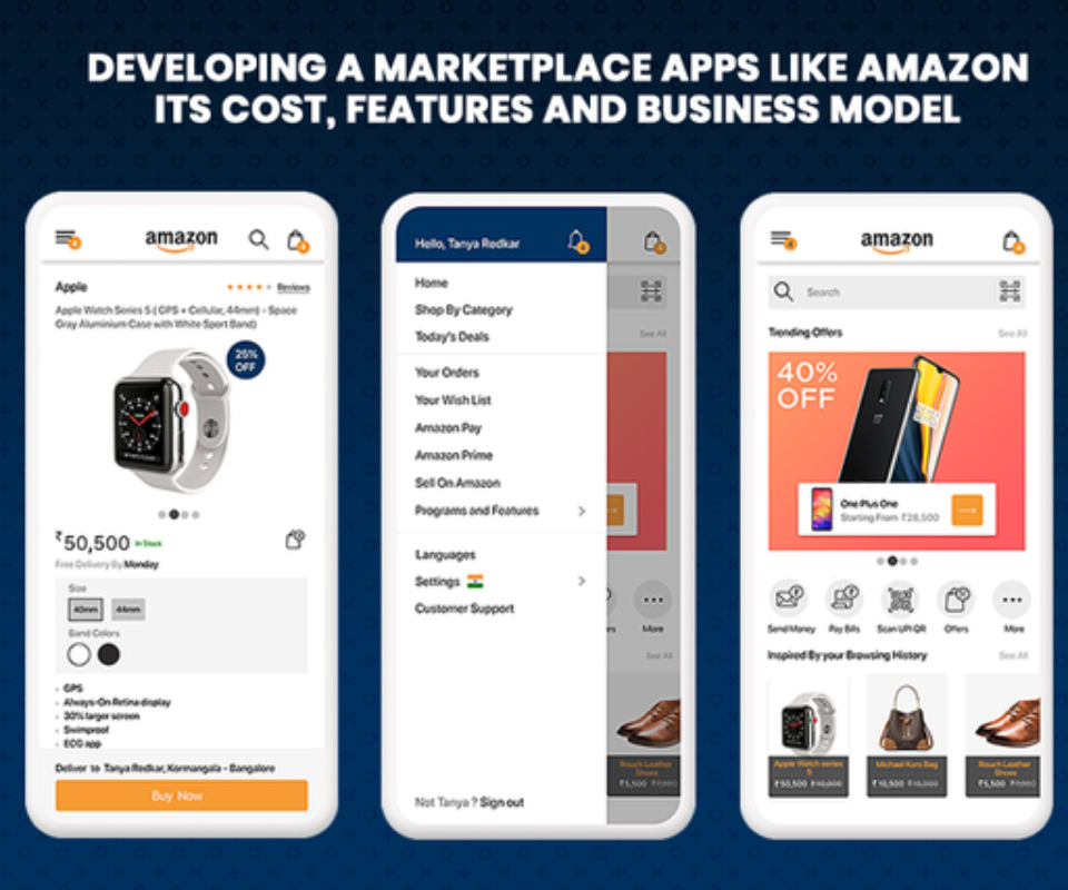 A Detailed Guide To Build An App Like Amazon In 2021